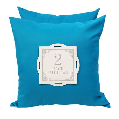 Solid Outdoor Throw Pillow