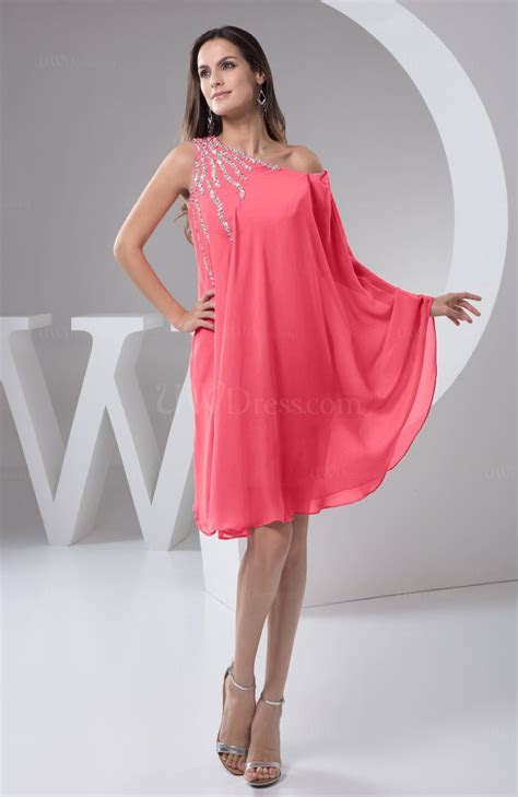 Guava Chiffon Bridesmaid Dress Maternity Outdoor Plus Size