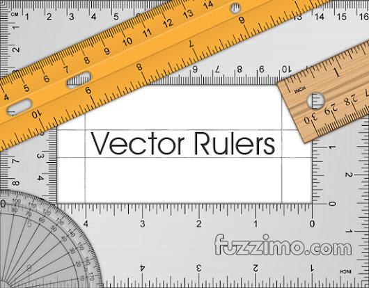 Free Vector Ruler, Triangle & Protractor | fuzzimo