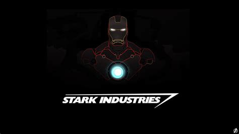 wallpaper iron man stark industries minimal dark hd