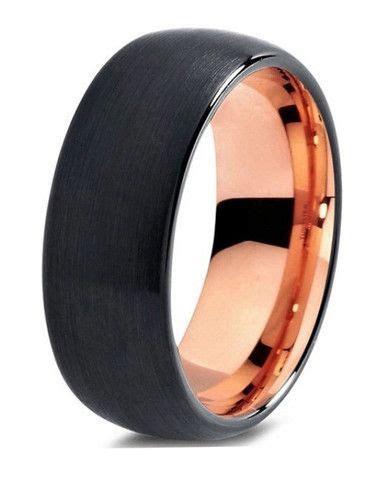 Midnight Rose   Wedding Ideas   Tungsten wedding bands