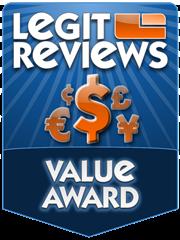 Legit Reviews Value Award