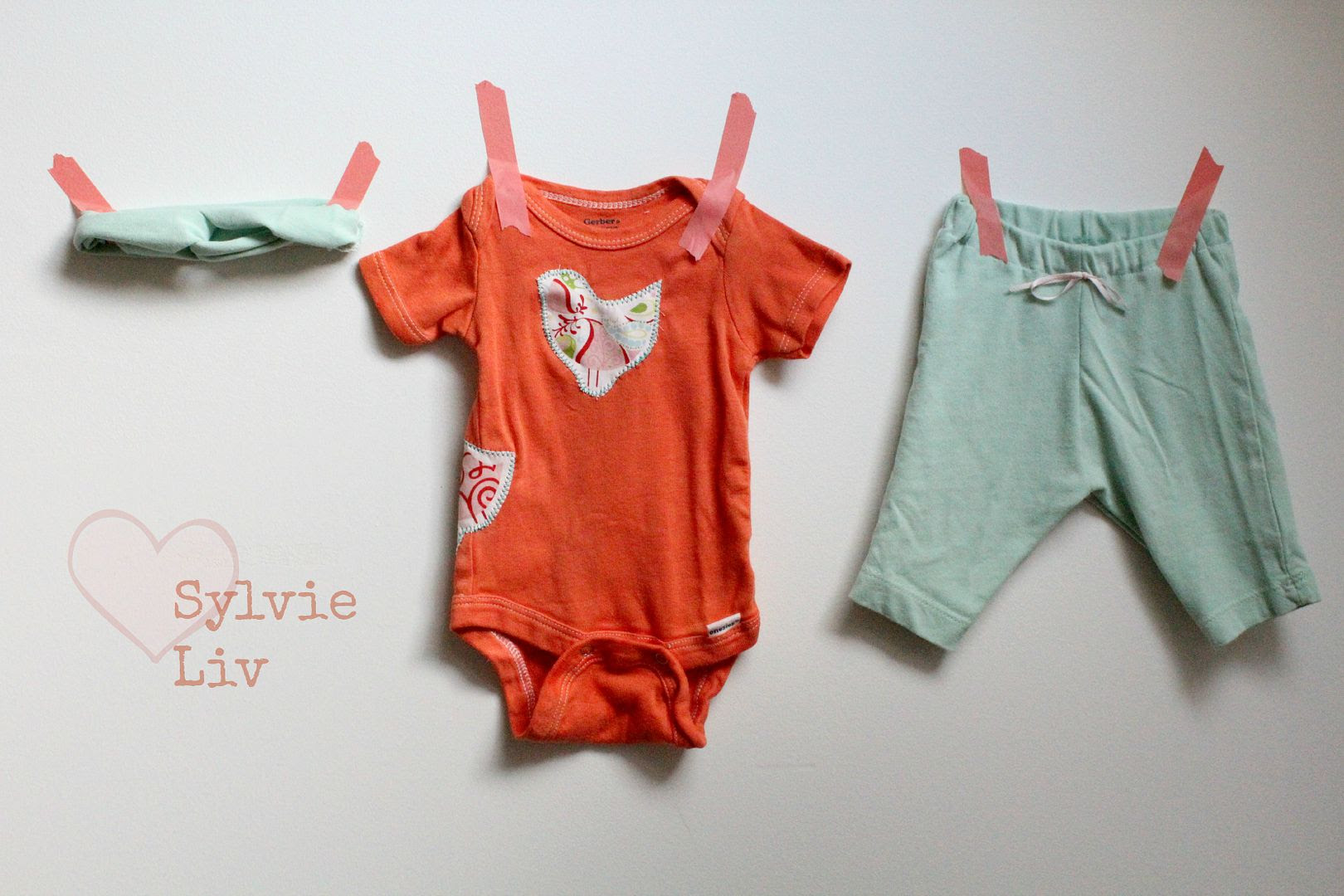 Sylvie Liv Baby Gift Idea Mint And Orange Outfit Diy