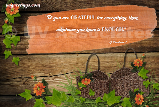 Thanksgiving Quote - When you are Grateful for Whatever you have