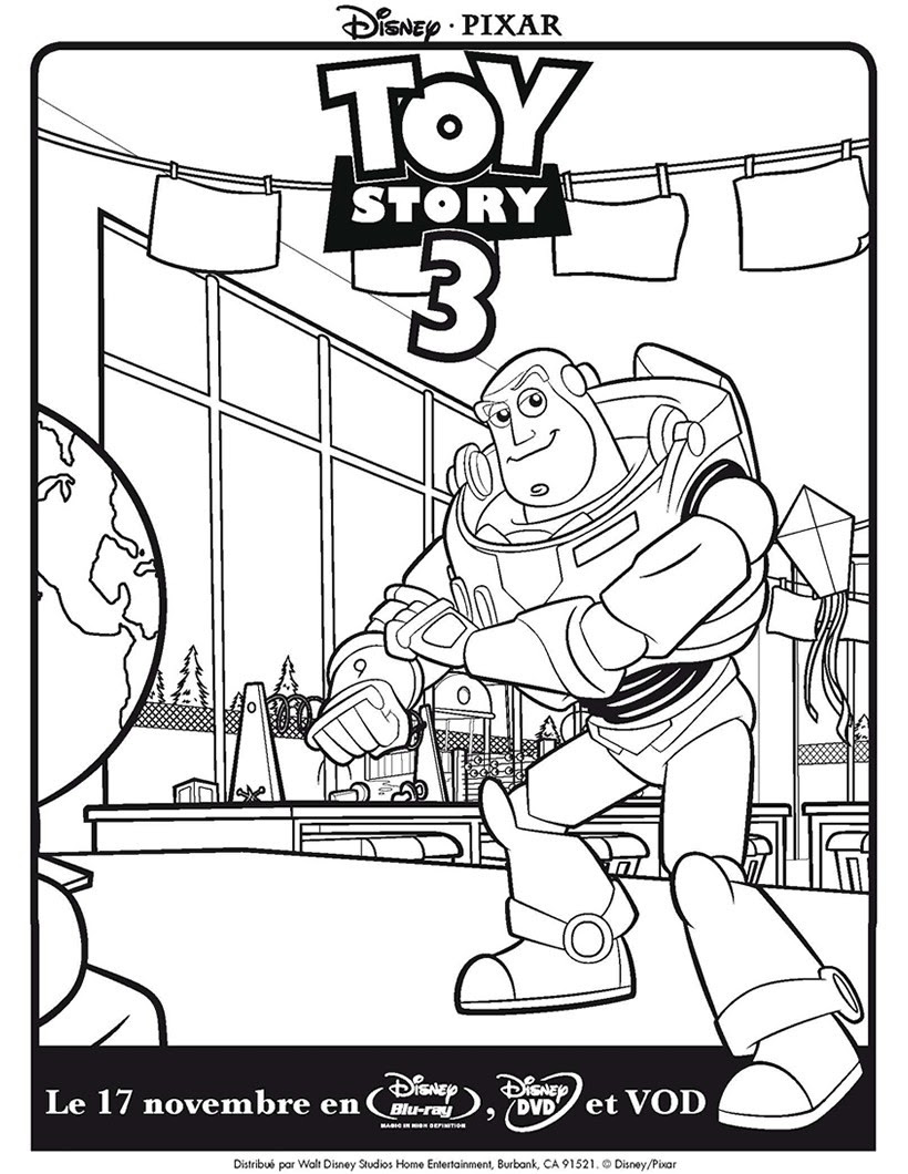 Coloriages Toy Story 3 Buzz Léclair Frhellokidscom
