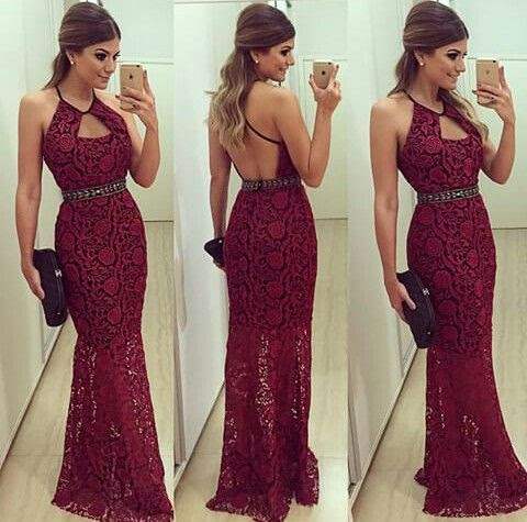 Resultado de imagem para vestido vermelho longo