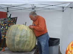 Pumpkin carving at Farmer's Market