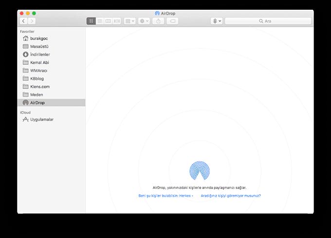 macOS'te AirDrop Nasıl Kullanılır?