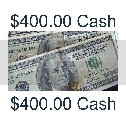 Enter to win $400.00 Cash - ends 03/14/13