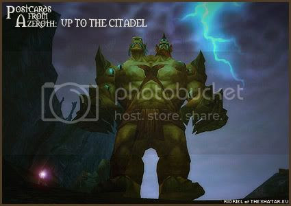 Postcards of Azeroth: Up To The Citadel, by Rioriel Ail'thera of theshatar.eu