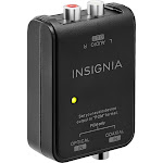 Insignia - Optical/Coaxial Digital-to-Analog Converter - Black