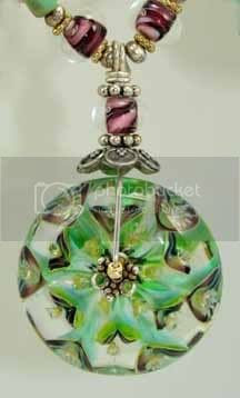 green lotus pendant