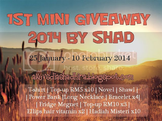 1st Mini Giveaway 2014 by Shad.