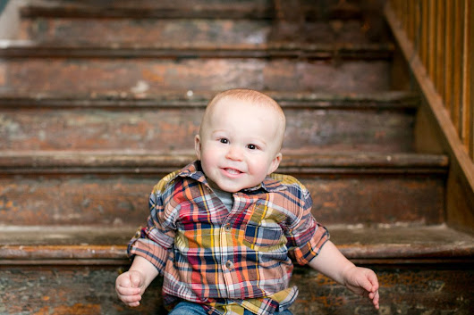 Adorable One Year Old Chippewa Falls Baby Photographer | Lennox