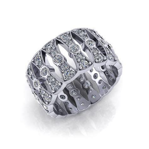 Wide Diamond Wedding Band   Jewelry Designs