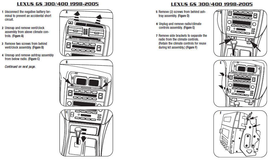 .1999-LEXUS-GS300installation instructions.