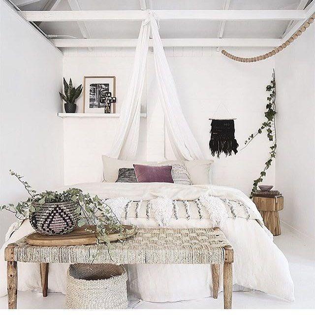 Boho Bedroom Gray Walls
