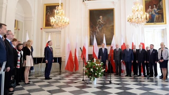 Andrzej Duda odebrał w pałacu w Wilanowie akt wyboru na prezydenta