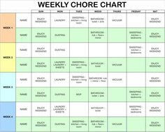 1000+ images about chore chart on Pinterest | Routine printable ...