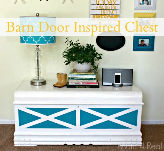 Barn Door Inspired Chest - Mom 4 Real