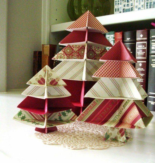 centros-de-mesa-navidenos-arboles-de-papel