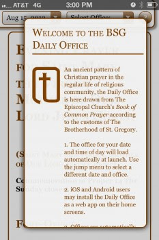Daily Office App 2.0