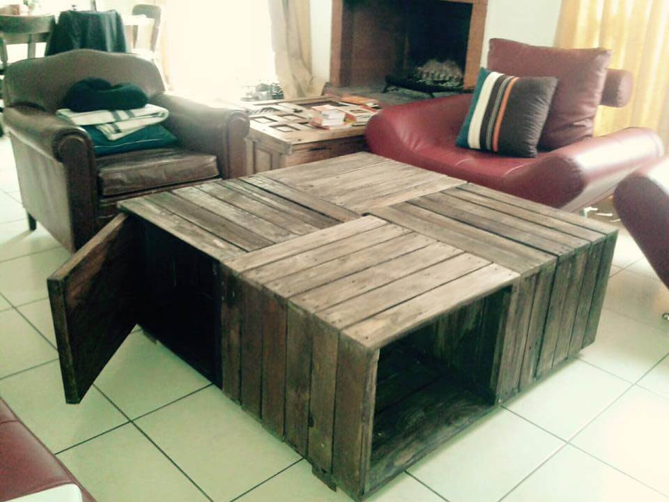 Crate Pallet Coffee Table + Pallet Sofa | 101 Pallets