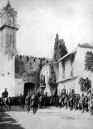Il generale Edmund Henry Hynman Allenby entra a Gerusalemme l'11 dicembre 1917 dopo la fuga delle truppe turche