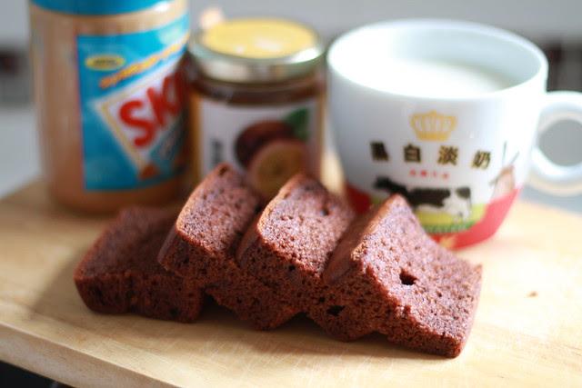 Chocolate Cake, Cream Cheese, Passion Fruit Jam, Peanut butter Breakfast
