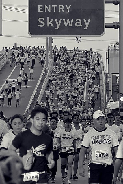 Skyway runners for the benefit of mangrove conservations. Photographed by Bernard Eirrol Tugade