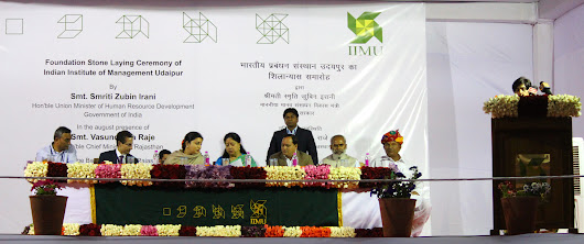 Foundation Stone Laying Ceremony of IIM Udaipur