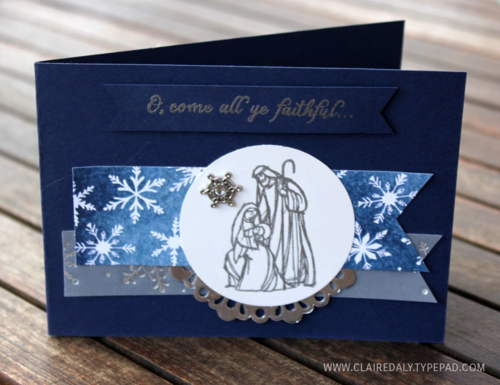 Stampin' Up! Australia: Claire Daly Independent Demonstrator Melbourne: Stampin' Up! All Ye Faithful Christmas Card