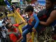 Migrant caravan traveling through Guatemala tears down barriers at Mexican border
