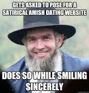 Good Guy Amish - gets asked to pose for a satirical amish dating