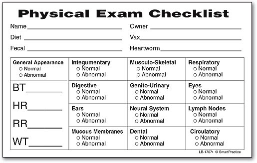 House plans physical exam checklist for Preoperative evaluation template