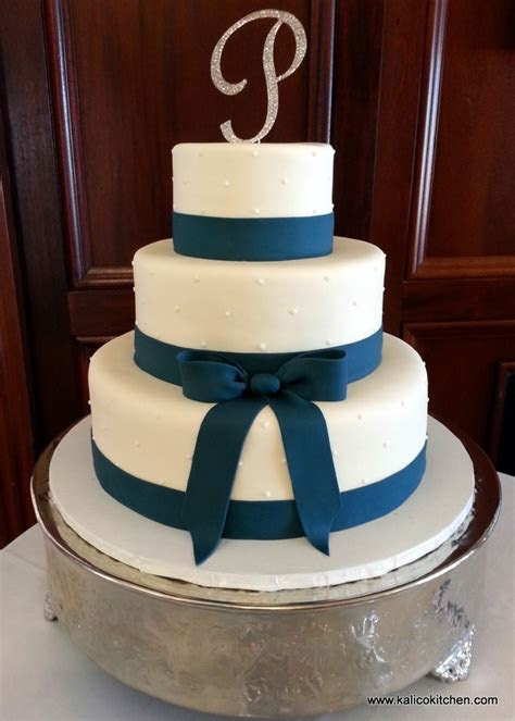 Wedding Cakes   three tier, fondant, navy blue fondant