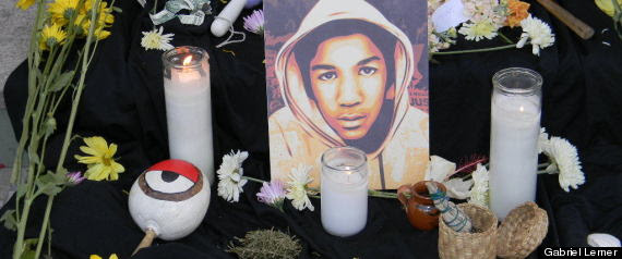 trayvon martin protesta este de los angeles