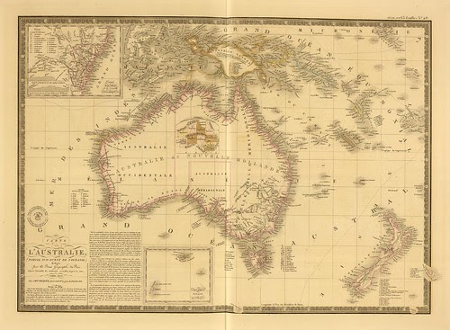 Carte de l'Australie, (partie sud-ouest de l'Oceanie). Redigee par A. Brue a