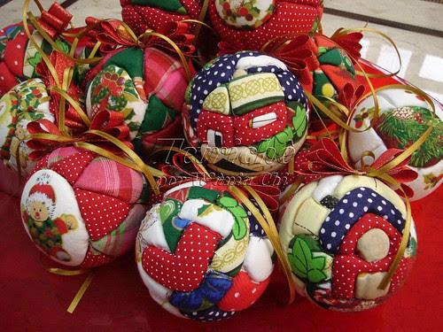 Bolas de Natal em Patchwork - 1