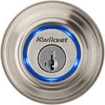 Kwikset Kevo - Deadbolt - key, electronic, key-card - Bluetooth - satin nickel