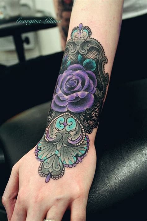 awesome lace tattoo designs images pictures