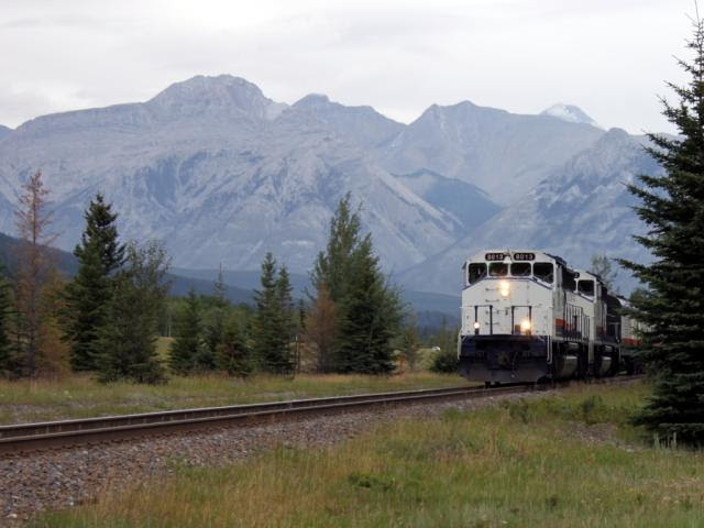 Rocky Mountaineer 8013 in Banff Alberta