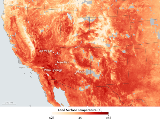 Heat Broils the American Southwest : Image of the Day