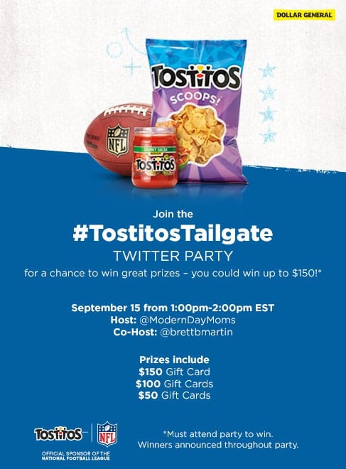 Join us for the #TostitosTailgate #TwitterParty