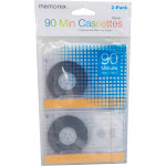 Memorex - Blank Audio Cassettes (2-Pack) - Clear MCT20