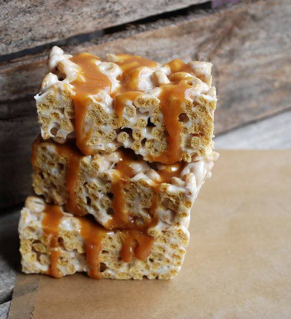 Brown Butter Cinnamon Cheerio Caramel Squares 3