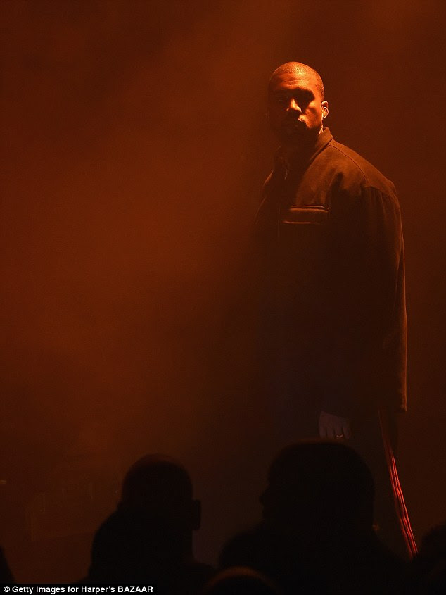 Getting the people going:While Kris and Kourt missed Kanye's fashion show the other day, they - along with the other guests - were treated to a performance by the rapper