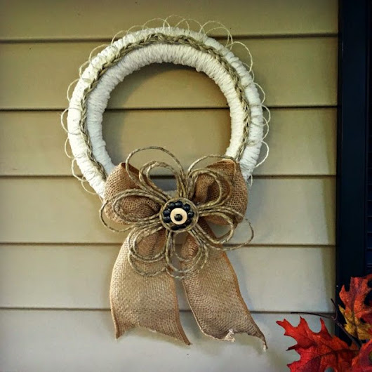 Fall Braided-Rope and Burlap Door Wreath - Knock It Off Kim