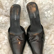 Giorgio Armani Dark Brown Leather Pointy Toe Mules Excellant