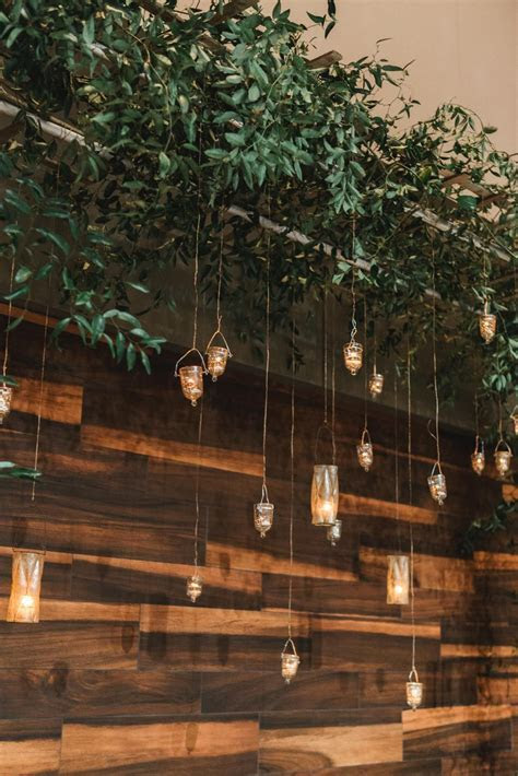 Greenery decor with candles/ earthy wedding decor